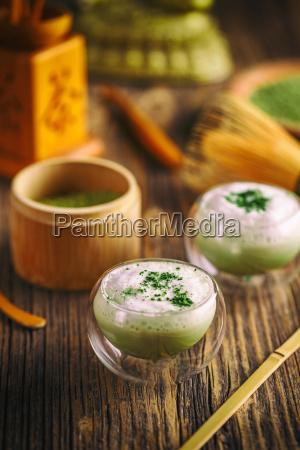 té, verde, matcha, latte - 19413160