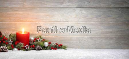 navidad, o, adviento, fondo:, madera, una, vela - 19420186