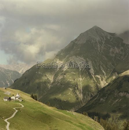 mountainous landscape lech austria