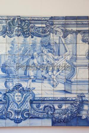 azul primer plano detalle iglesia arte