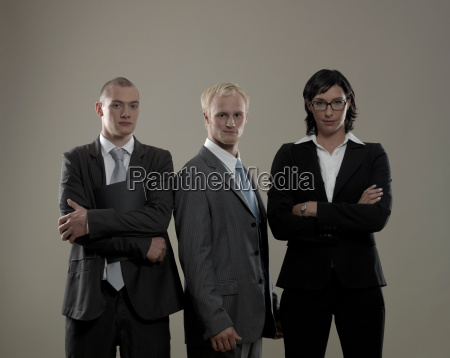 three, business, colleagues, , portrait - 19474788