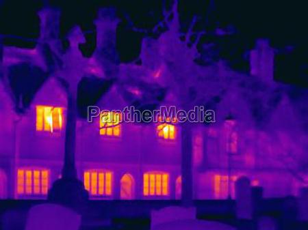 imagen, térmica, de, casas, en, la - 19491696