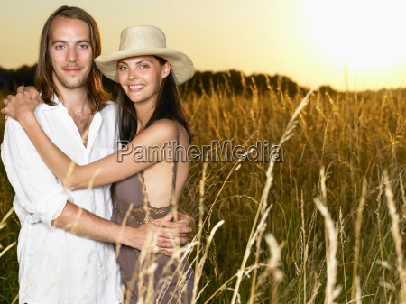 couple, at, sunset, , , in, a - 19506120