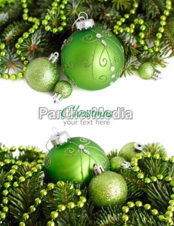 ornamentos de navidad frontera verde