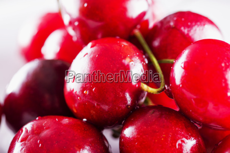 red cherries in close up