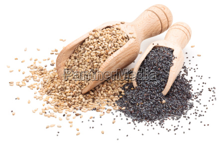 sesame and poppy seeds