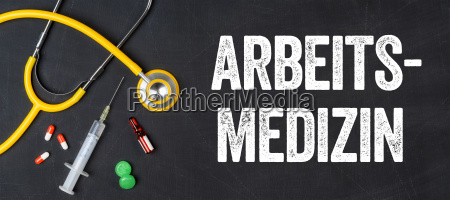 stethoscope and medicines occupational medicine