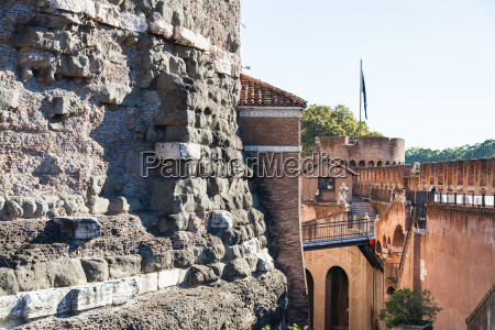ancient walls of castle of the