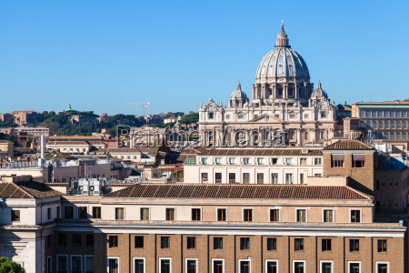 view of st peters basilica in