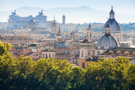 view of historic center of rome