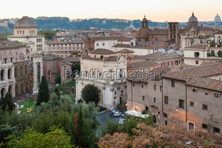 view of old rome town from