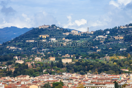 outskirts of florence city on green