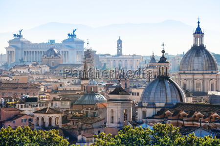 above view of rome city in