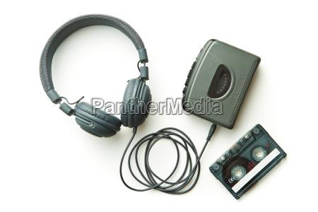 walkman vintage cinta de audio y