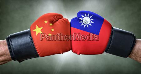 lucha conflicto concurso confrontacion bandera taiwan