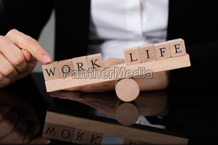 an imbalance between life and work