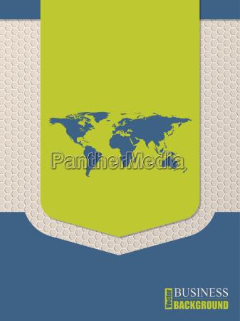 flat style world map brochure design