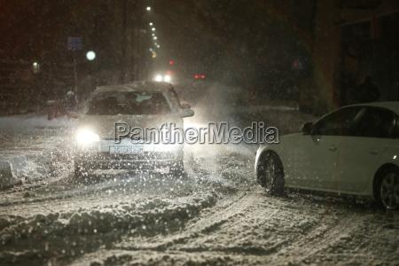 nevadas en las calles de velika