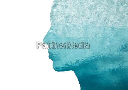 mujer perfil azul personas gente hombre