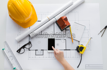 cierre de mano con blueprint y