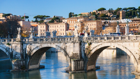 st angel bridge on tiber river