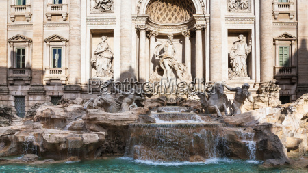 front view of trevi fountain in