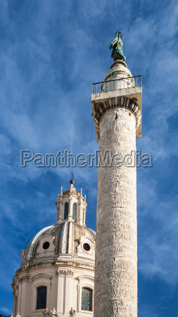 trajan column on roman forum in