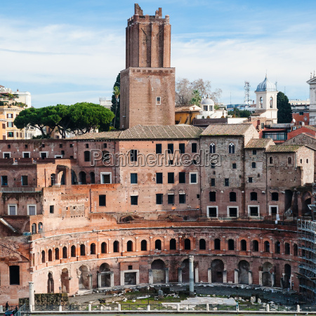 ancient trajans market in roman forum
