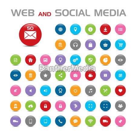 los iconos de las redes sociales