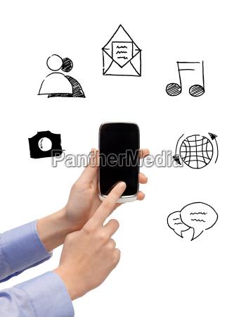 levantarse de las manos con telefonos