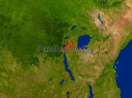 medio ambiente espacio africa ilustracion satelite