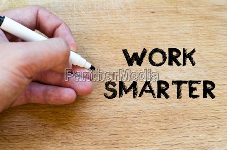work smarter text concept