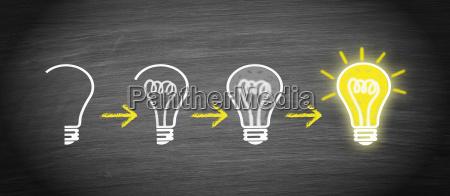 idea innovacion creatividad concepto de bombilla