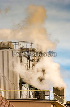 contaminacion atmosferica por la chimenea de