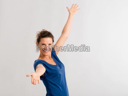 retrato de una mujer madura feliz