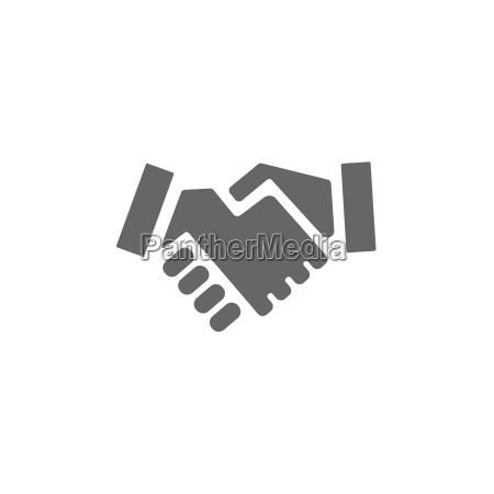 icono del apreton de manos