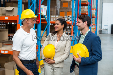 portrait of managers with hard hat