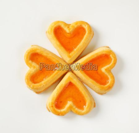 galletas, en, forma, de, corazón, con - 20499113