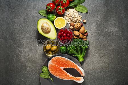 comida sana con salmon