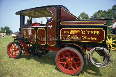 close up of traction engine england