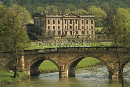 bridge over the river and chatsworth