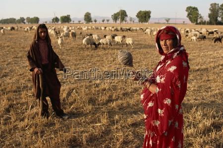 mujer bereber y pastor hijo the
