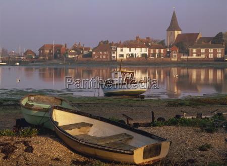 boats in bosham from across the