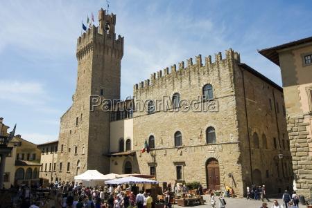 piazza della liberta and antiquarian fair