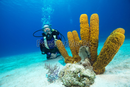 pensionista disfrutando de una inmersion en