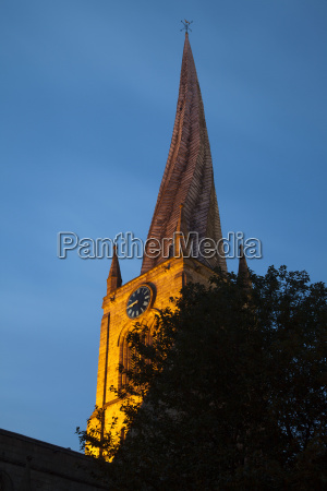 the crooked spire at the parish