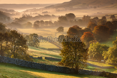 the littondale valley lit by the