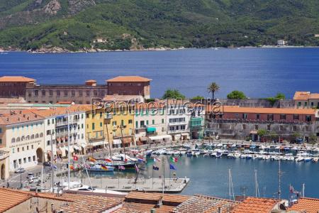 old town and harbour portoferraio island