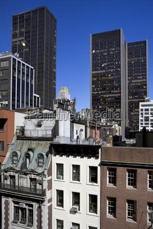 azul arquitectura color moderno al aire