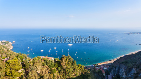 panorama with ionian sea from taormina